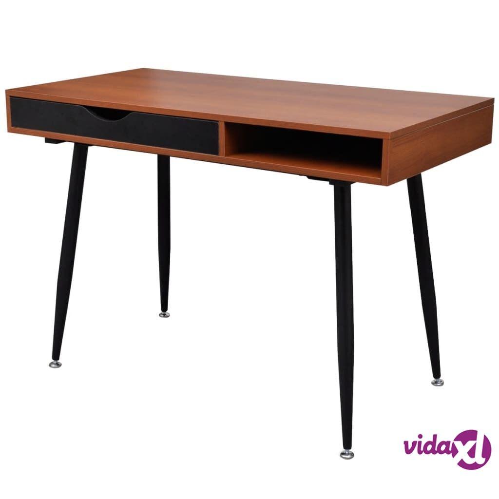 vidaXL Ruskea Tietokone- /Työpöytä