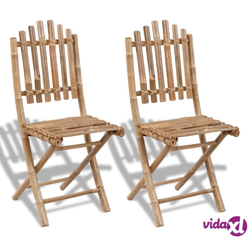 Image of vidaXL Kokoontaitettavat puutarhatuolit 2 kpl bambu