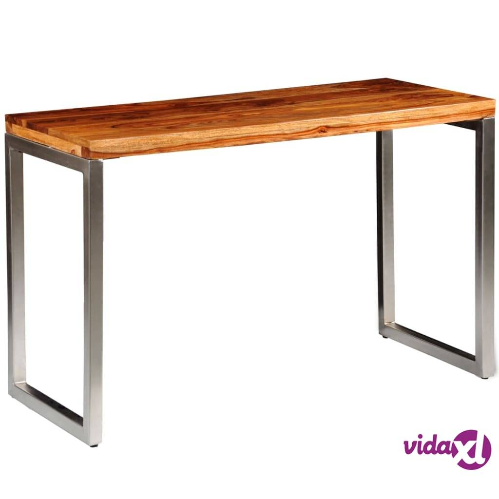 vidaXL Seesampuinen ruoka-/toimistopöytä teräsjaloilla