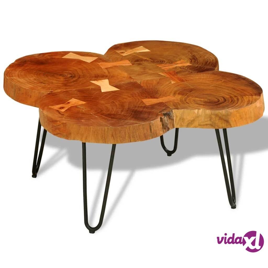 Image of vidaXL Sohvapöytä 35 cm 4 puunrunkolevyä Kiinteä seesampuu