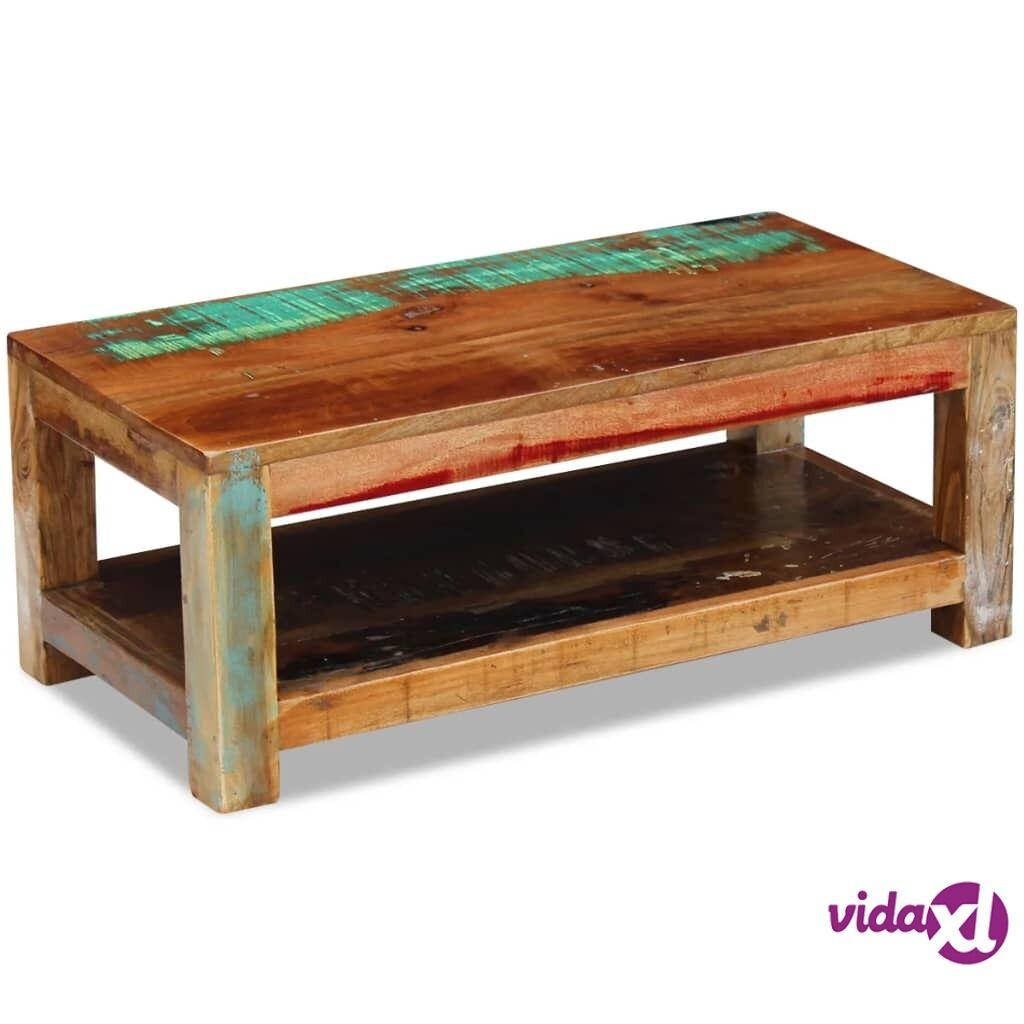vidaXL Kahvipöytä Täysi Uusiokäytetty Puu 90x45x35 cm