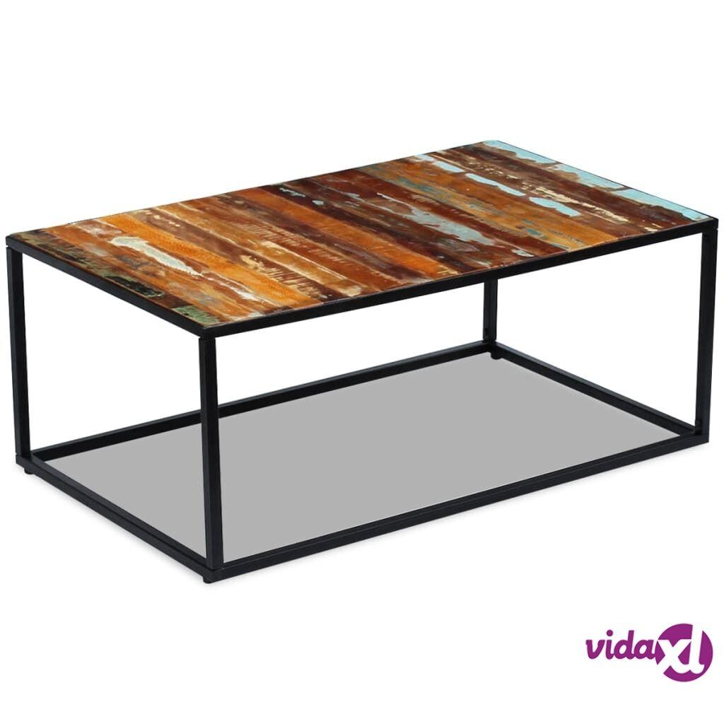 Image of vidaXL Kahvipöytä Täysi Uusiokäytetty Puu 100x60x40 cm