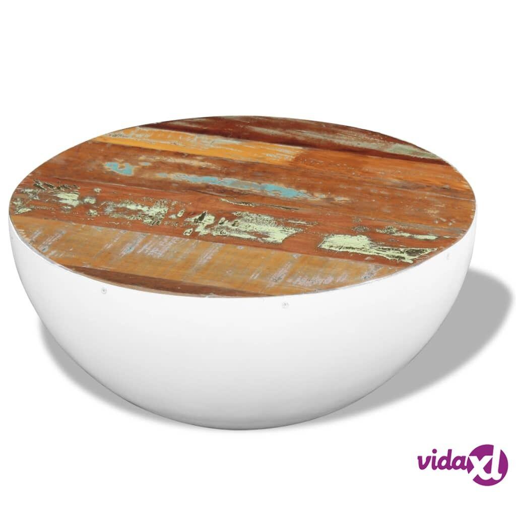 Image of vidaXL Kulhon Muotoinen Kahvipöytä Uusiokäytetty Puu 60x60x30 cm