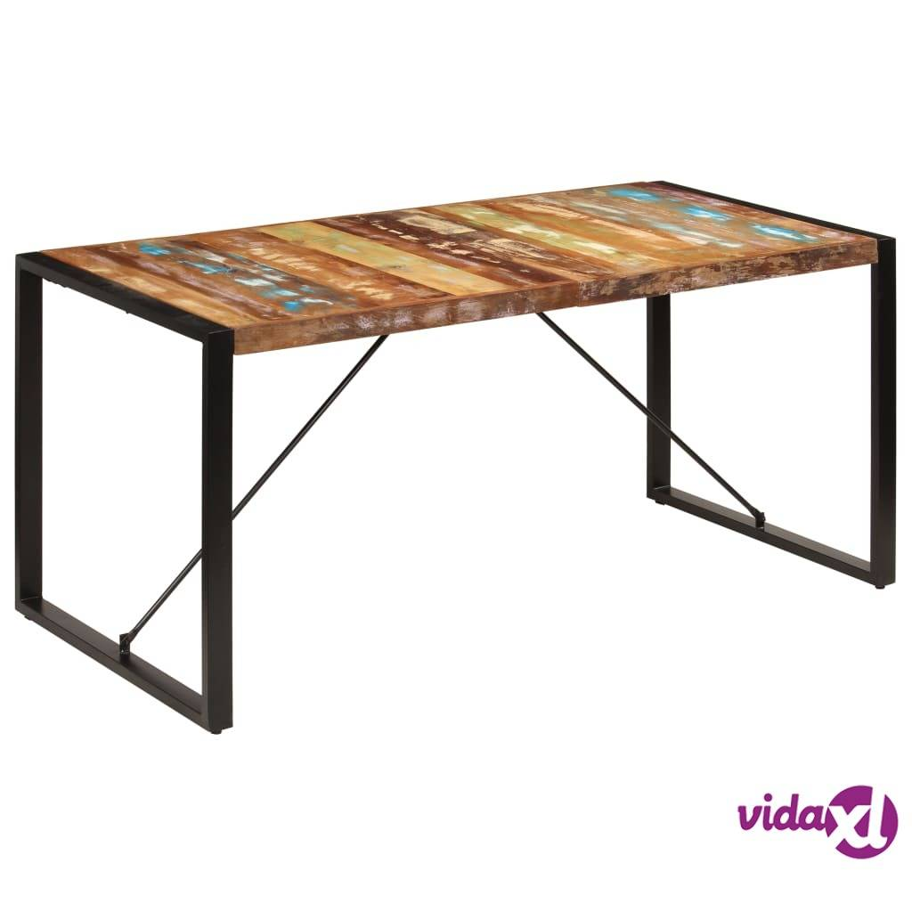 Image of vidaXL Ruokapöytä 160x80x75 cm uusiokäytetty puu