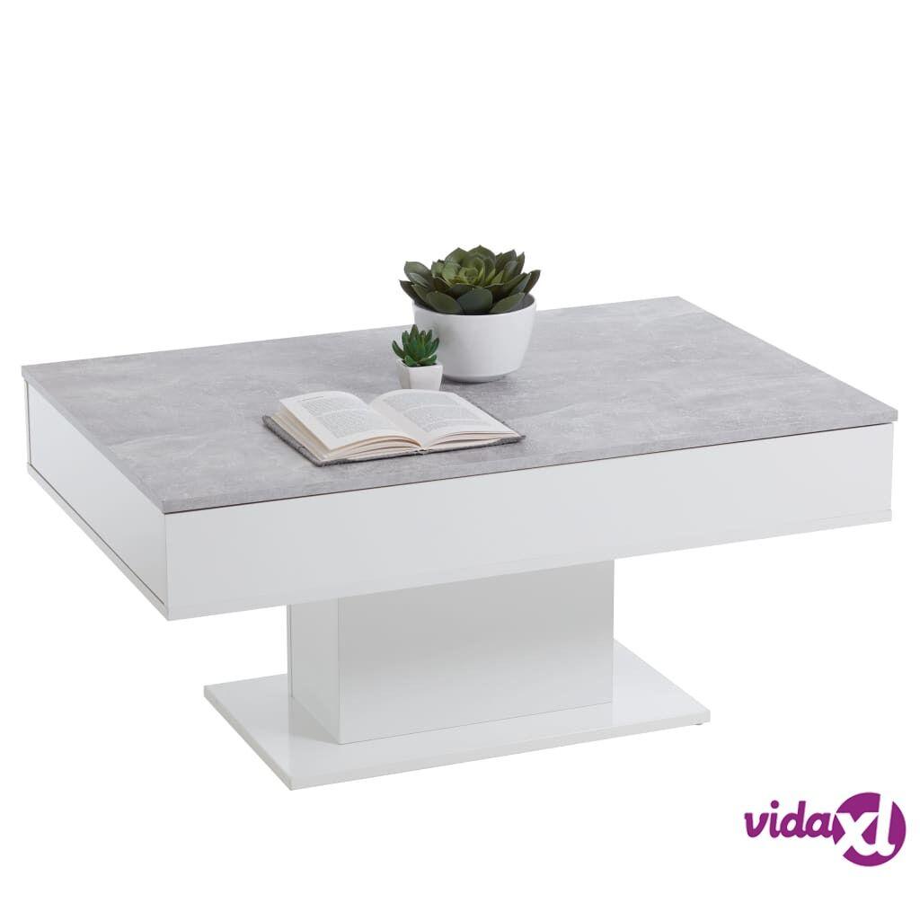 FMD Sohvapöytä betoninharmaa ja valkoinen