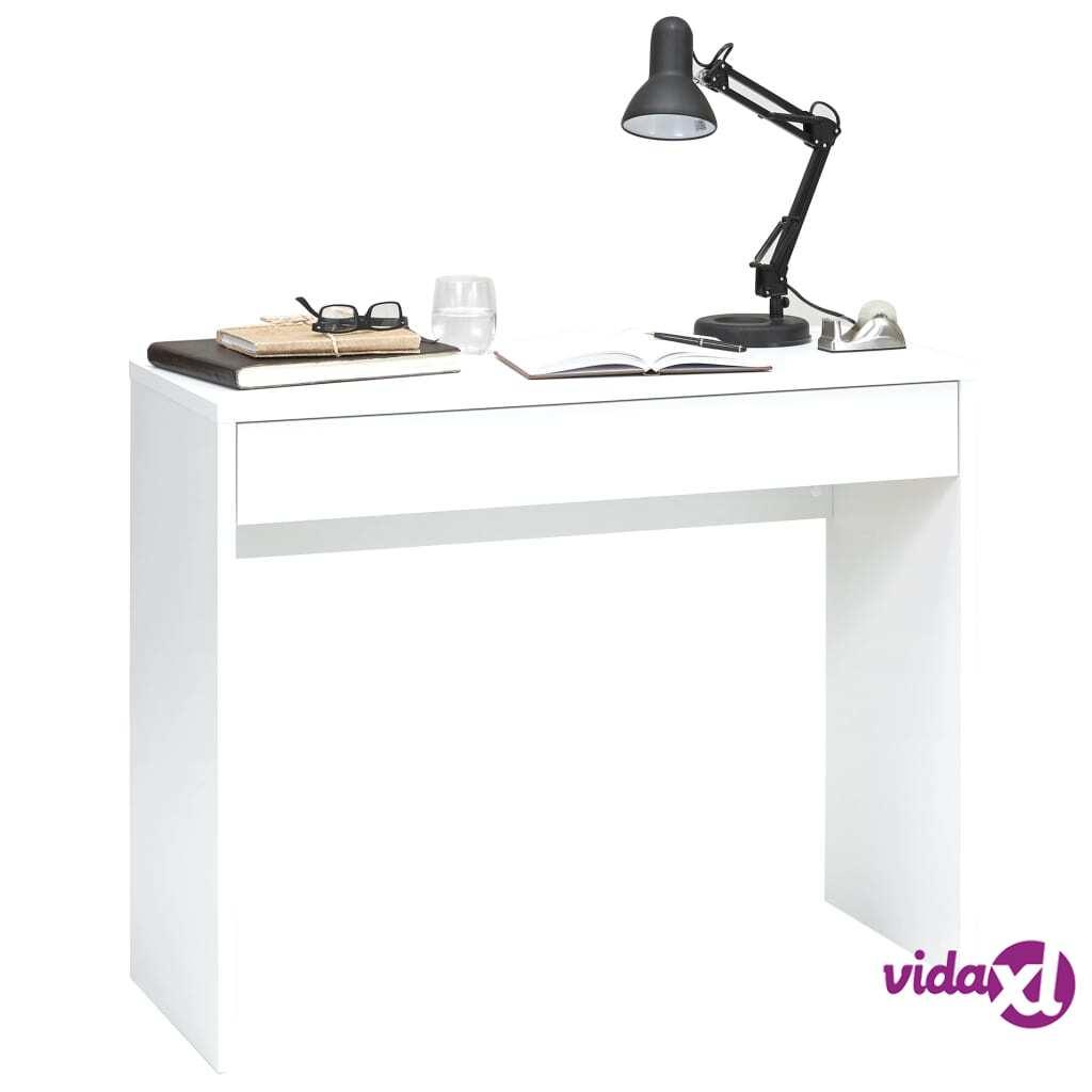 FMD Työpöytä leveällä vetolaatikolla 100x40x80 cm valkoinen