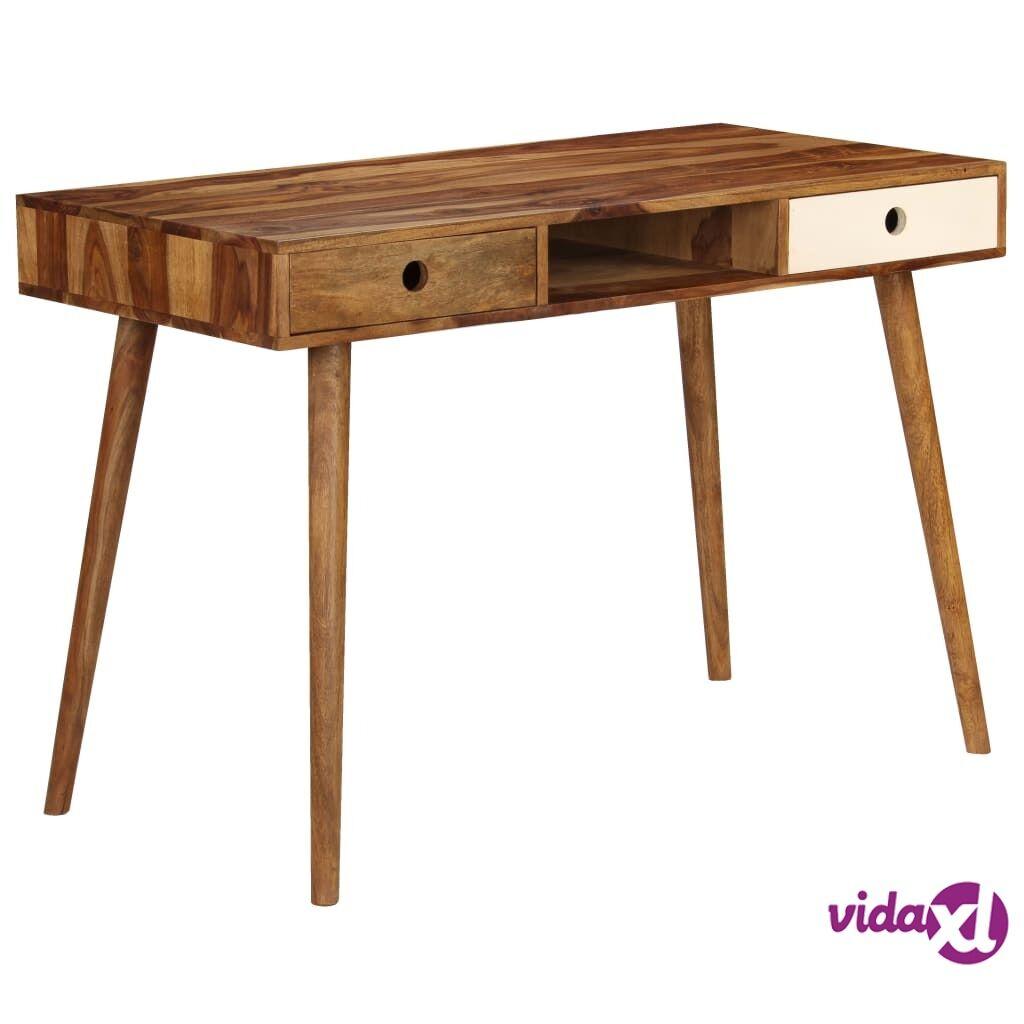 vidaXL Kirjoituspöytä kiinteä seesampuu 110x55x76 cm