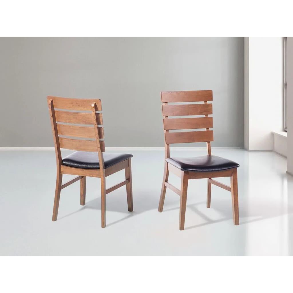 Beliani Puinen ruskea ruokapöydän tuoli - DUMBO