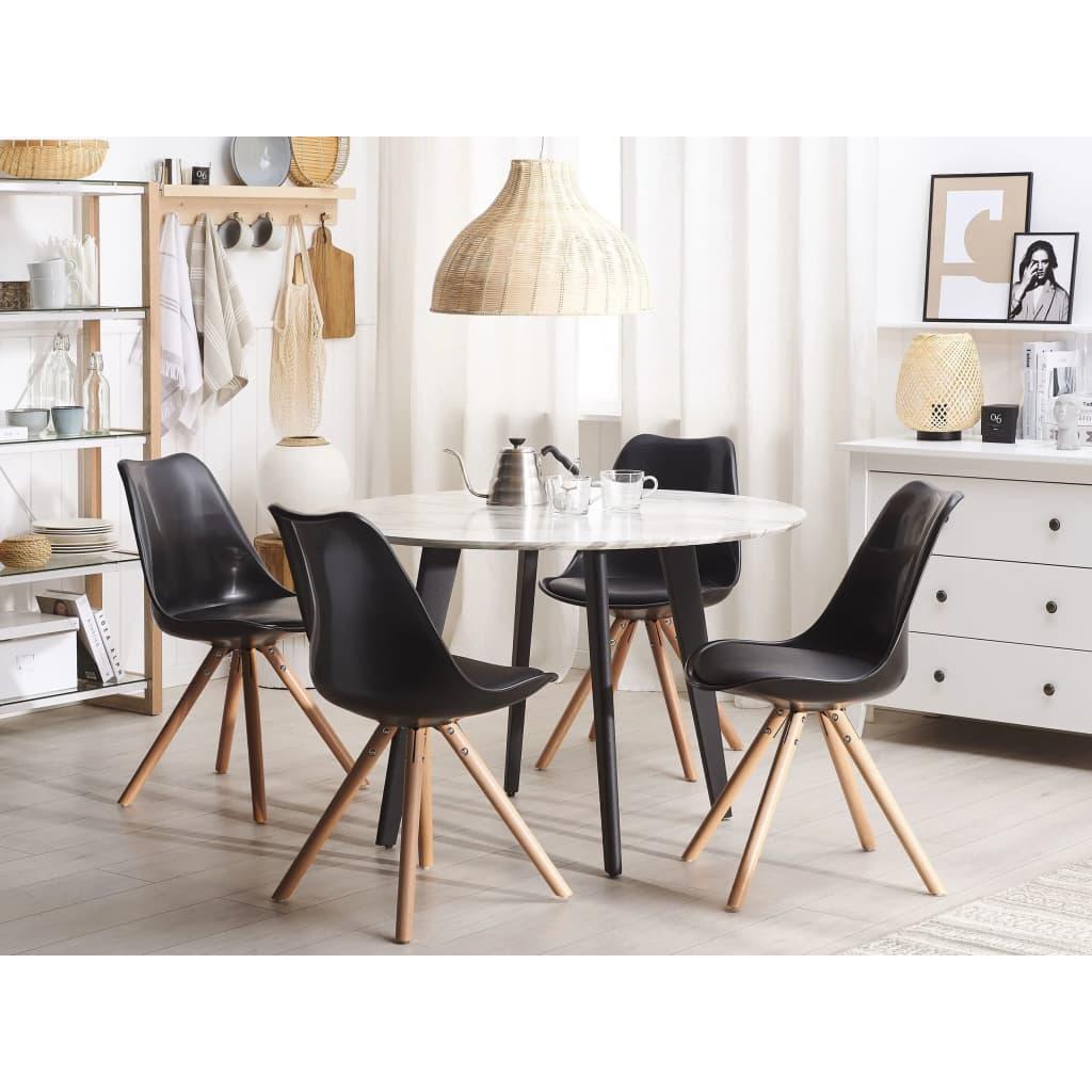Beliani Ruokapöydän tuoli - musta DAKOTA