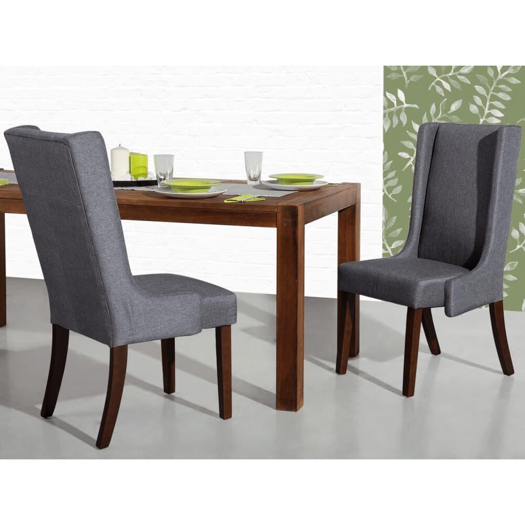 Beliani Kangasverhoiltu ruokapöydän tuoli - tummanharmaa CHAMBERS