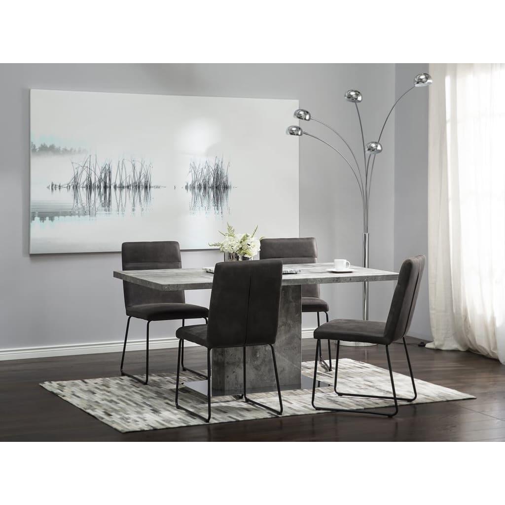 Beliani Ruokapöydän tuolit tummanharmaa 2/pakk NEVADA