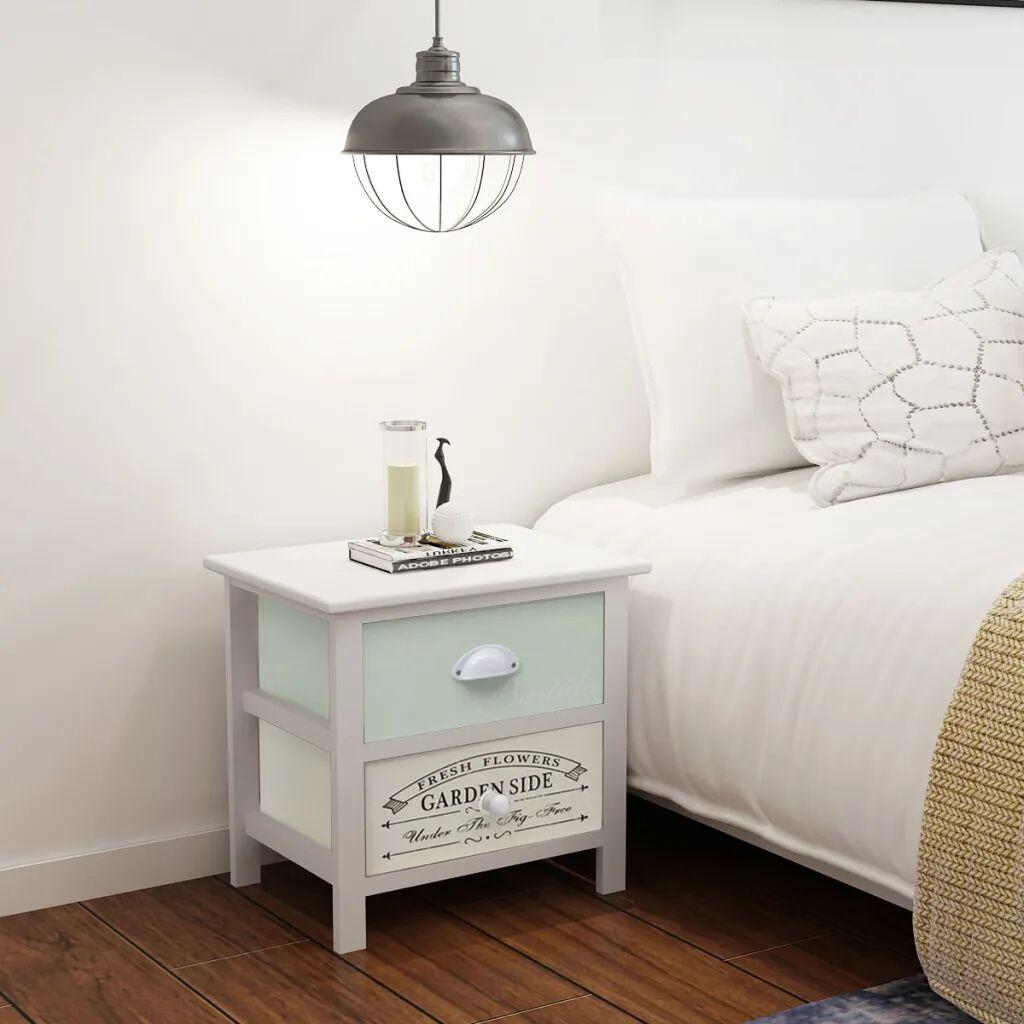 vidaXL Ranskalaistyyliset yöpöydät 2 kpl puu
