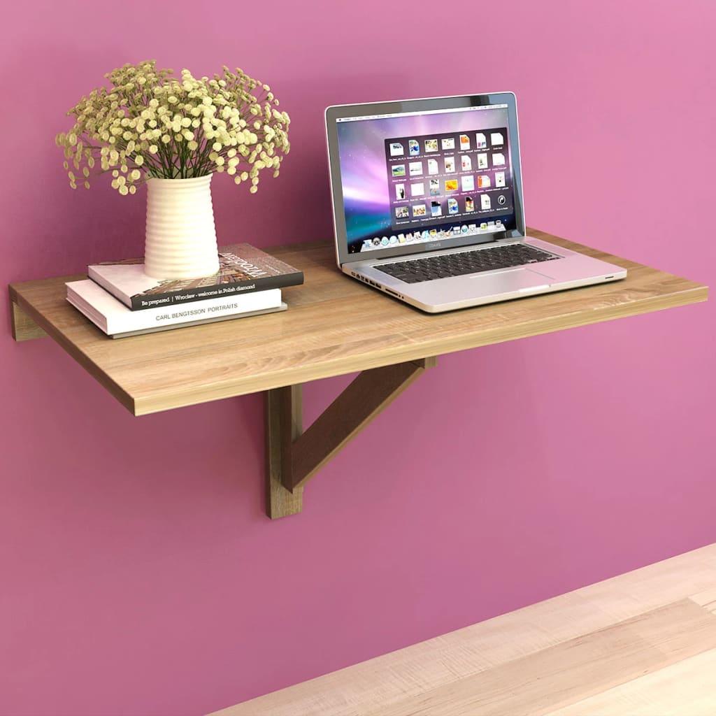 vidaXL Kokoontaitettava Seinäpöytä Tammi 100x60 cm