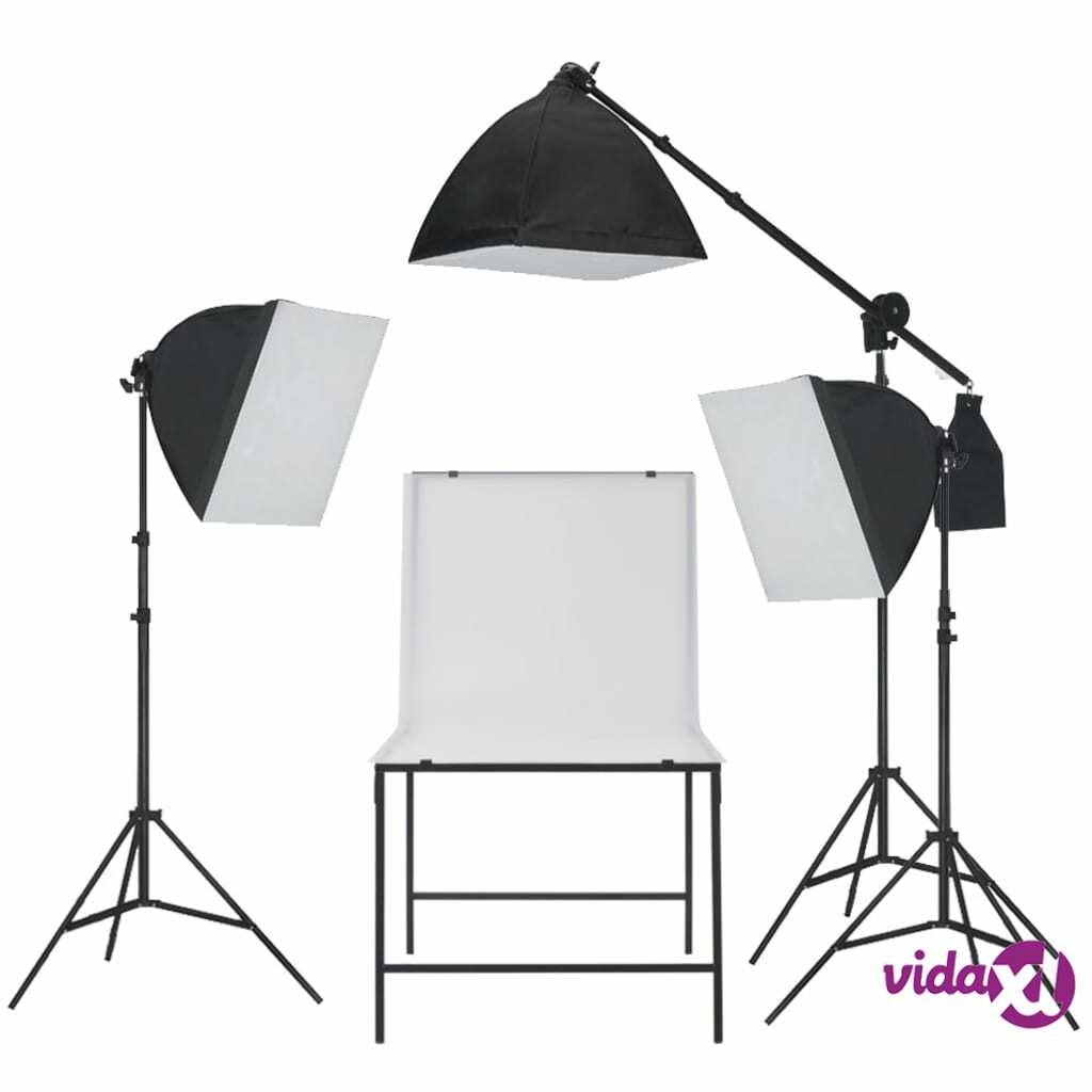 vidaXL Valokuvastudio Softbox Valosarja Kuvauspöydällä