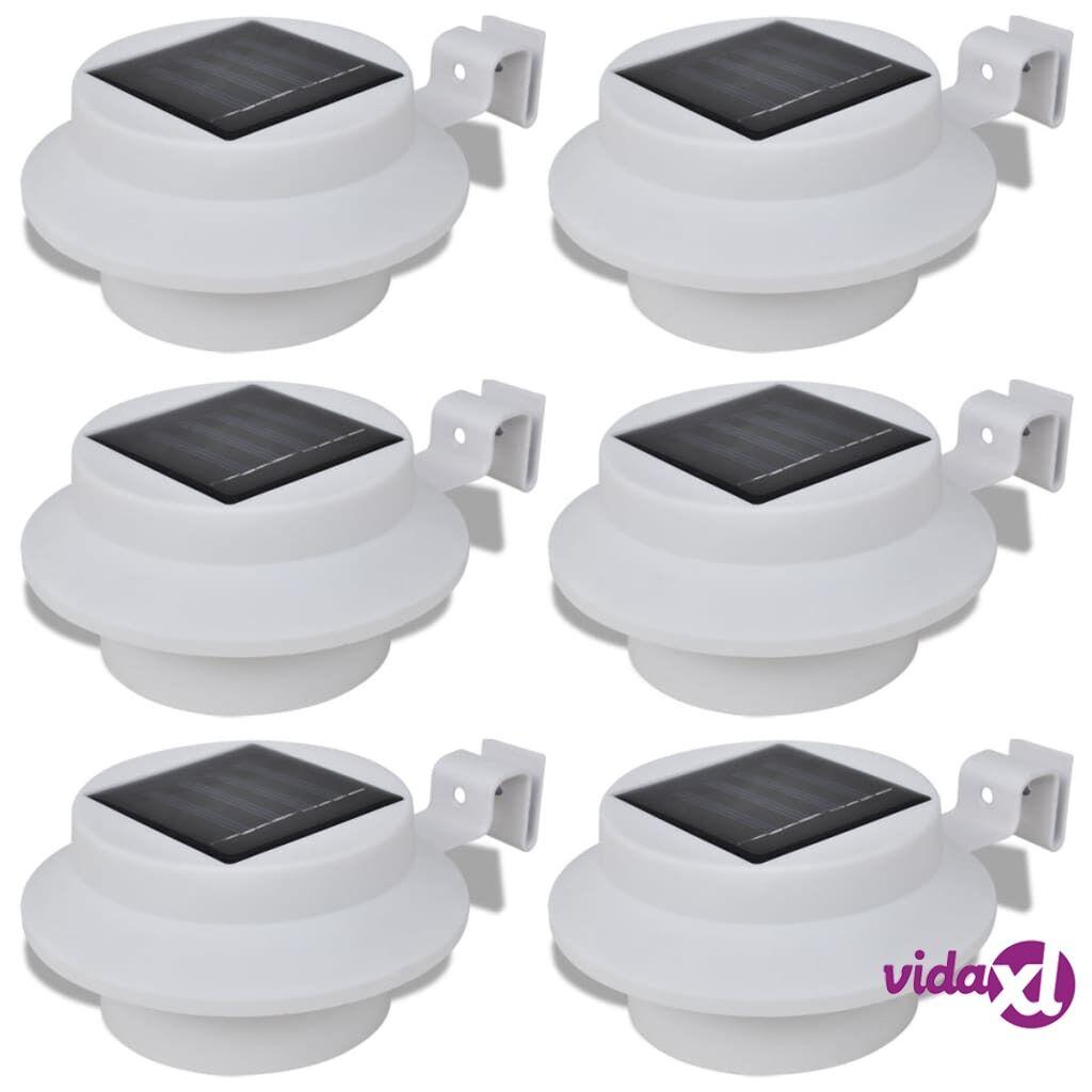 vidaXL Aurinkovoimalla toimiva 6-osainen aitavalosarja valkoinen