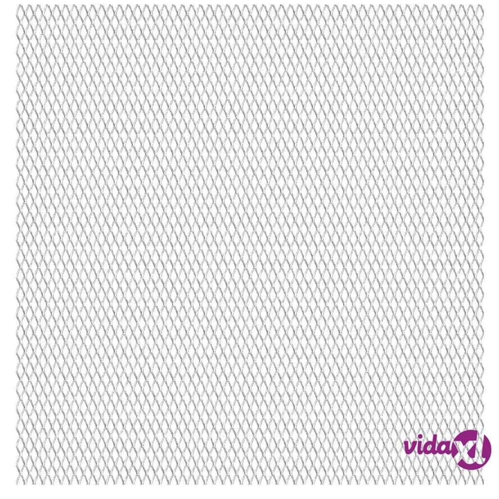 Image of vidaXL Verkkoaitapaneeli ruostumaton teräs 50x50 cm 20x10x2 mm