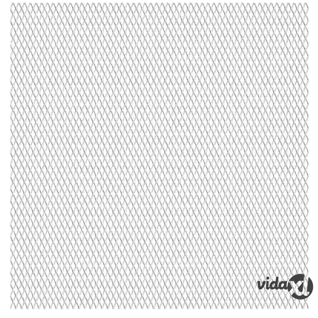 Image of vidaXL Verkkoaitapaneeli ruostumaton teräs 50x50 cm 45x20x4 mm