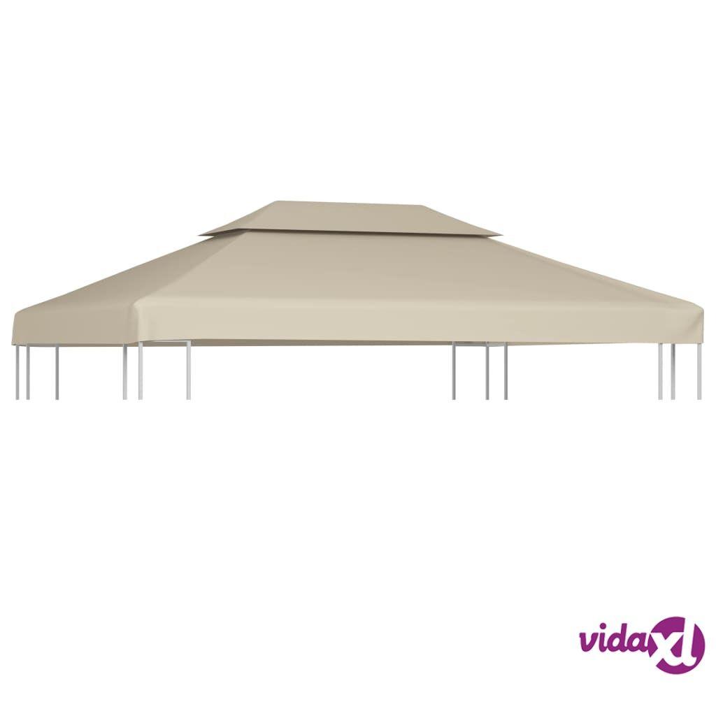 Image of vidaXL Huvimajan vaihtokatto 310 g/m² Beige 3 x 4 m