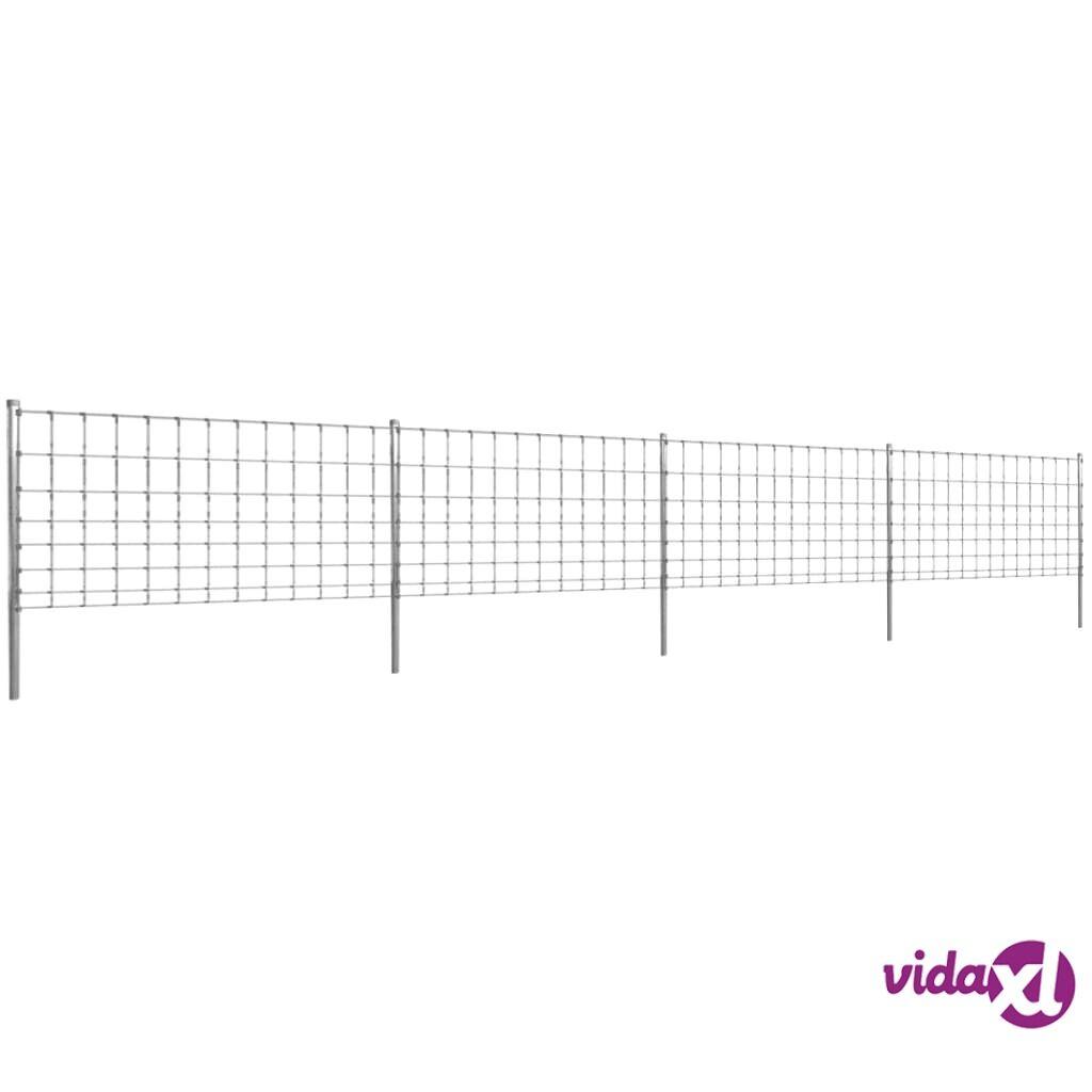 Image of vidaXL Step-In Aita 50 m Tolpilla Galvanoitu Verkkoaita 100/8/30