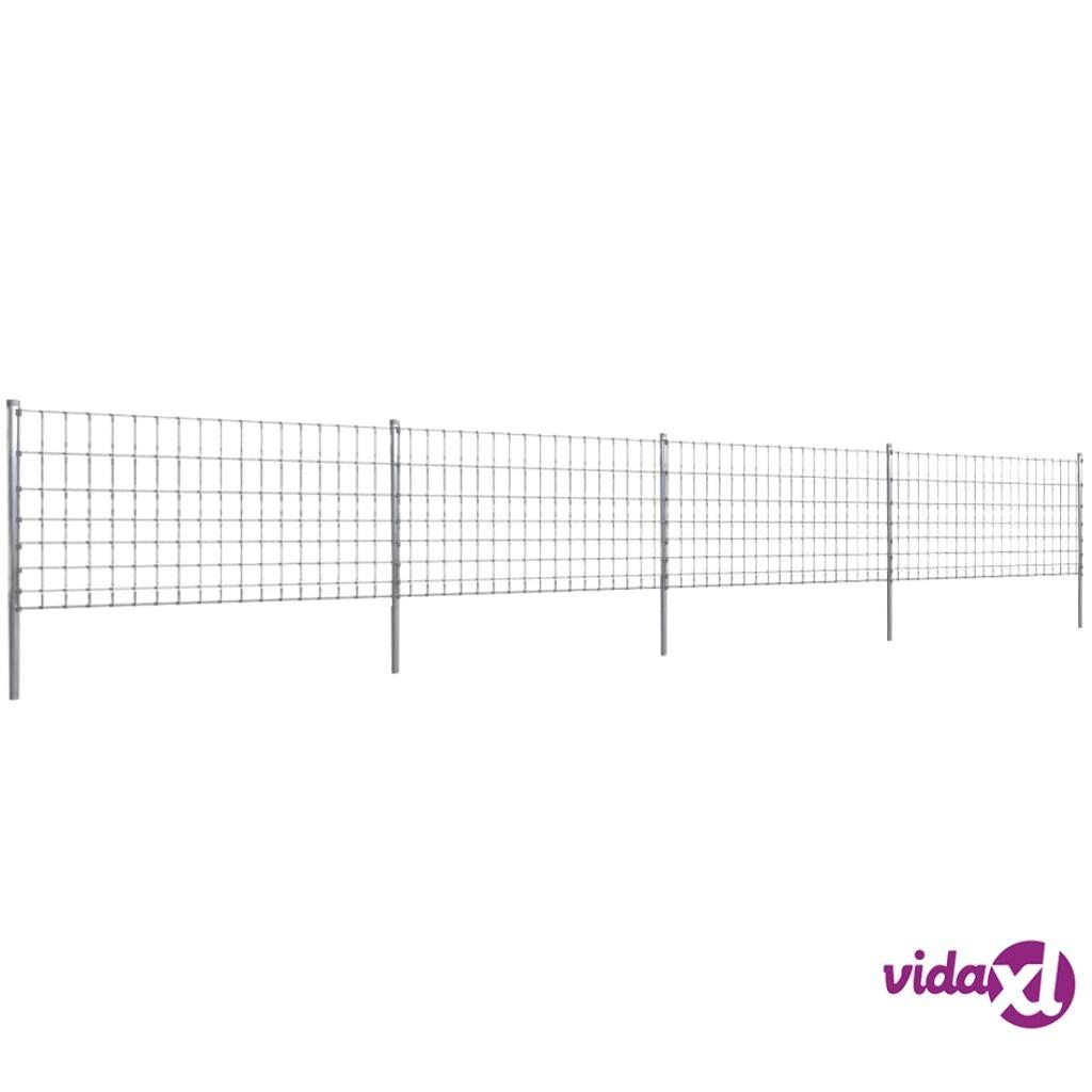 Image of vidaXL Step-In Aita 50 m Tolpilla Galvanoitu Verkkoaita 100/8/15