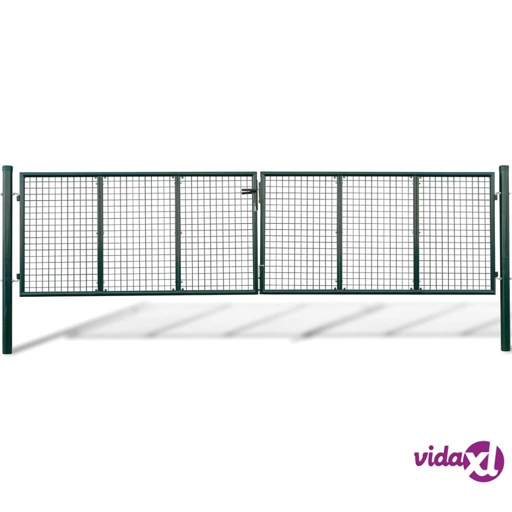 vidaXL Puutarhan Verkko-aidan Portti 415 x 150 cm / 400 x 100 cm
