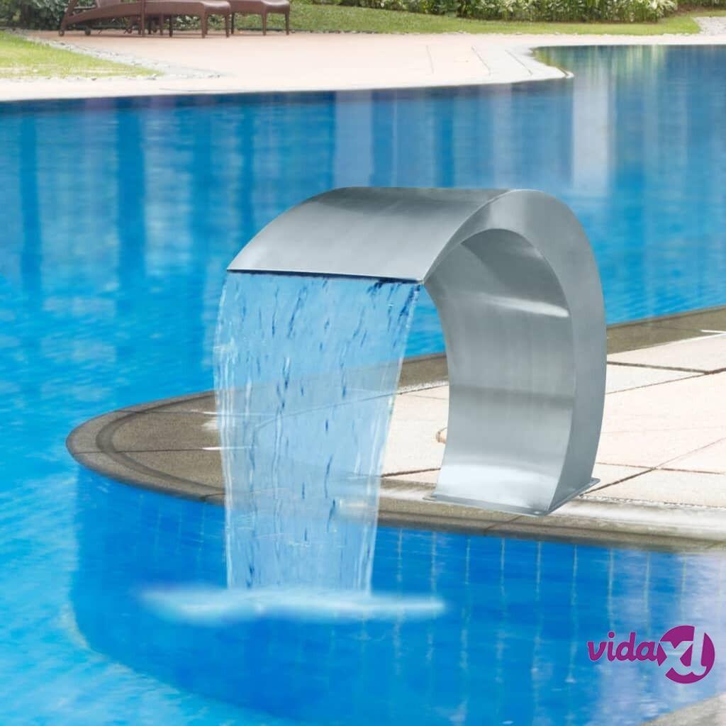 vidaXL Uima-altaan suihkulähde Ruostumaton teräs 45x30x60 cm