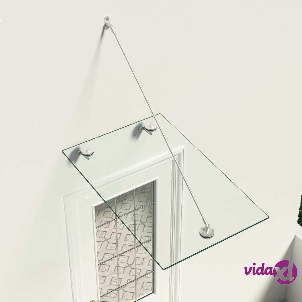 vidaXL VSG-turvalasi etuoven katos 90x60 cm ruostumaton teräs