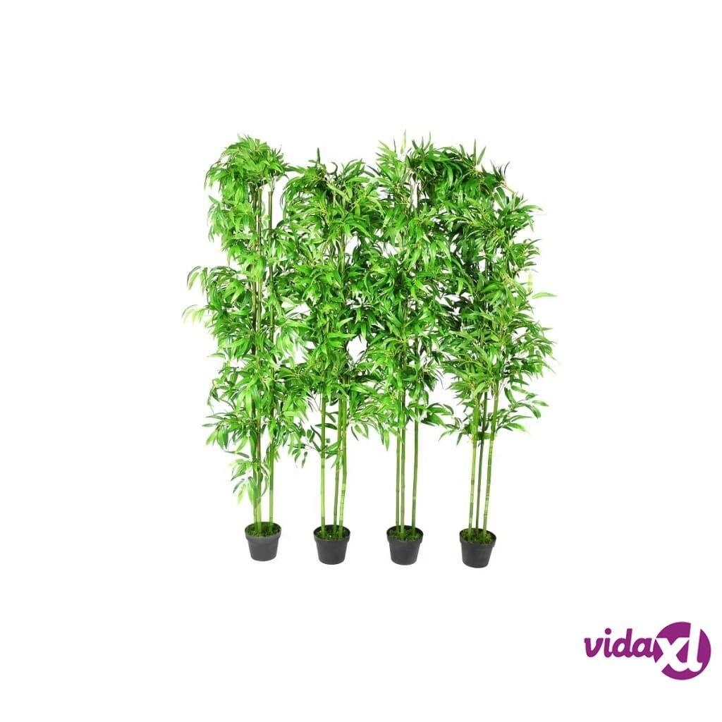 Image of vidaXL 4-osainen Bambu Keinokasvisarja Kotisisustus 190 cm