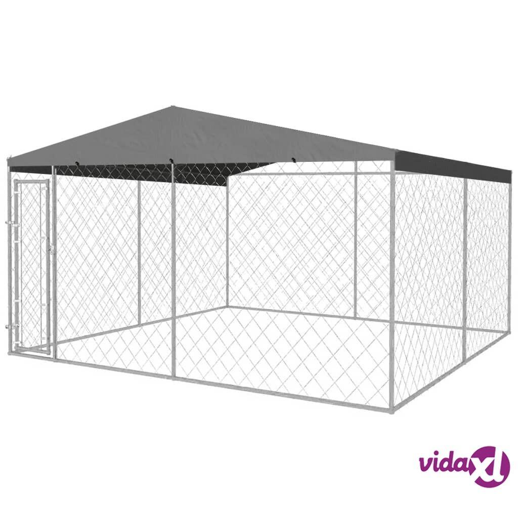 Image of vidaXL Koiran ulkohäkki katoksella 4x4 m