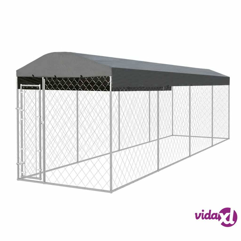 Image of vidaXL Koiran ulkohäkki katoksella 8x2 m
