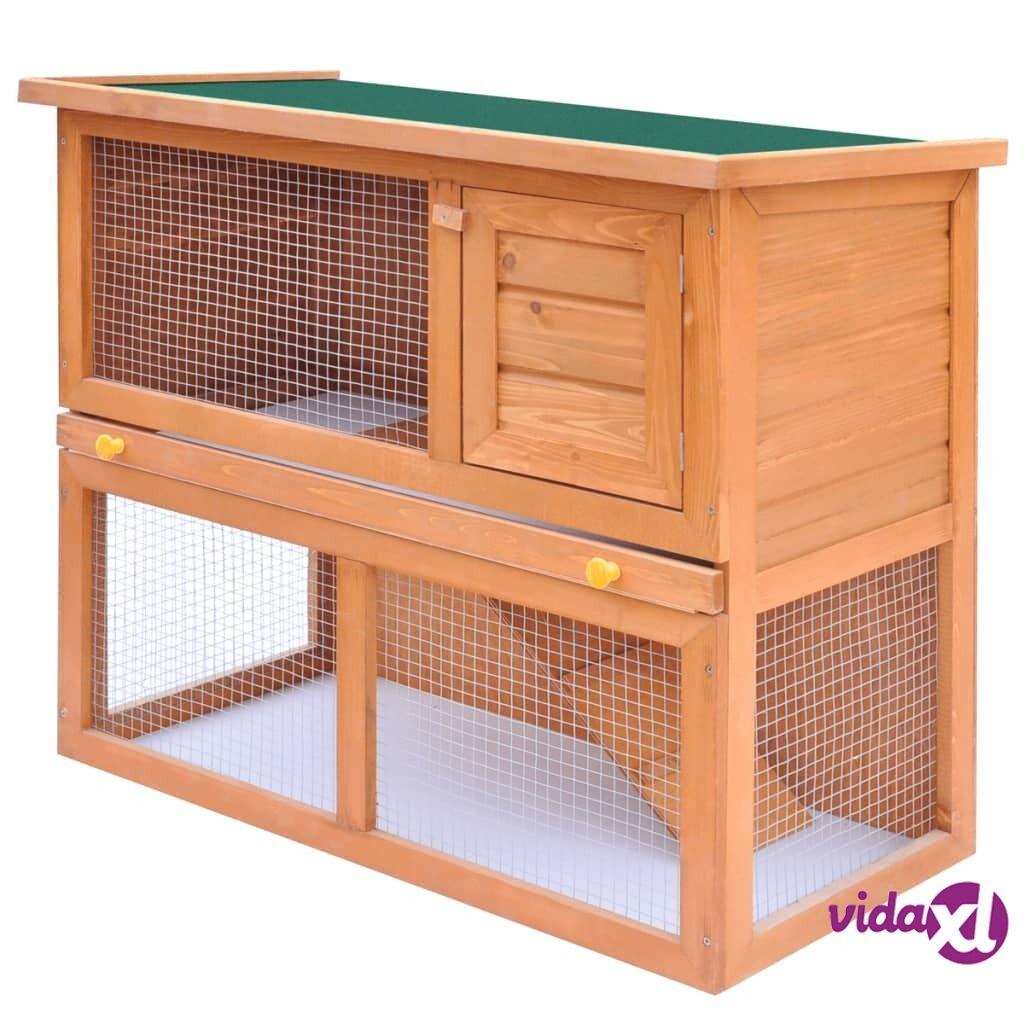 Image of vidaXL Kaninkoppi/pieneläinten ulkohäkki 1 ovi puu