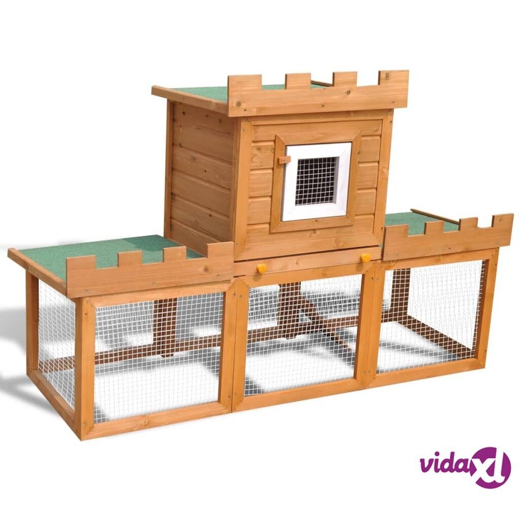 Image of vidaXL Suuri kaninkoppi/eläinten ulkohäkki yhdellä pesällä