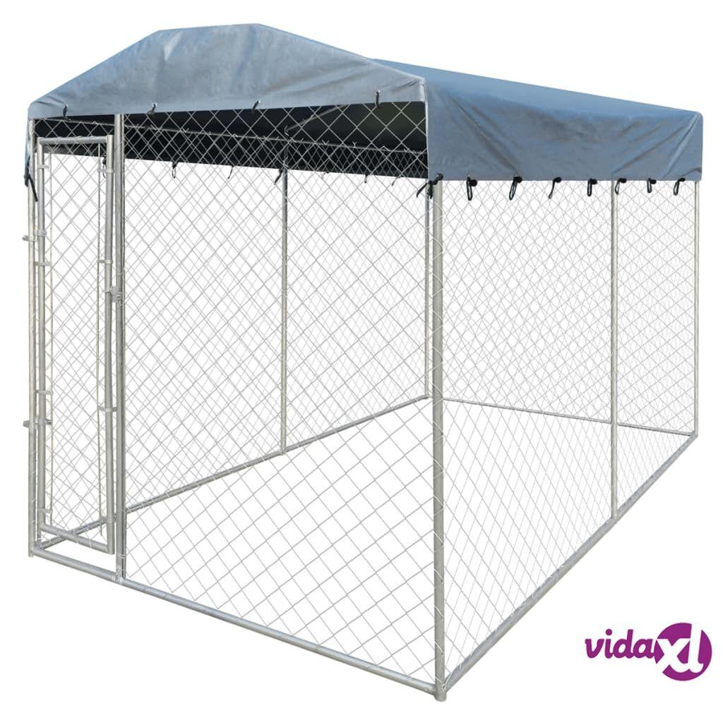 Image of vidaXL Koiran ulkohäkki suojakatoksella 4x2 m