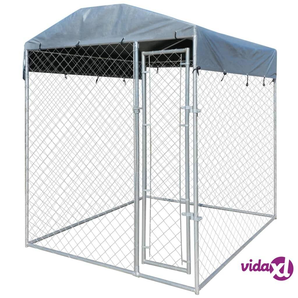 Image of vidaXL Koiran ulkohäkki suojakatoksella 2x2 m