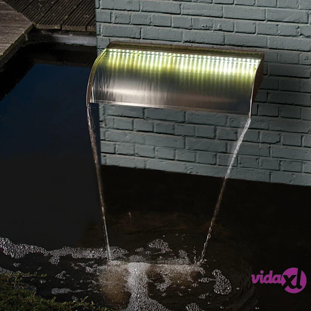 Ubbink Nevada-vesiputous LED-valaistuksella 90 cm ruostumaton teräs