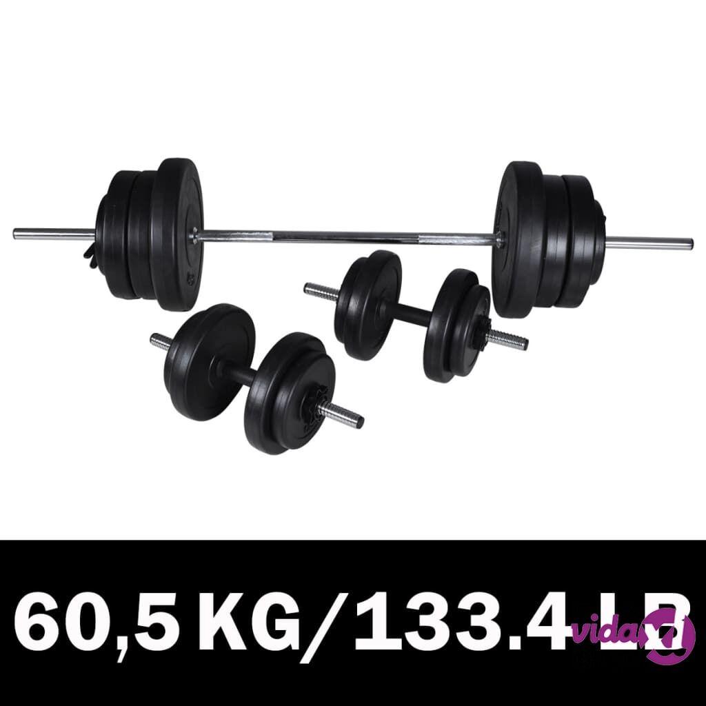 Image of vidaXL Painonnostotanko ja Käsipaino Sarja 60,5 kg