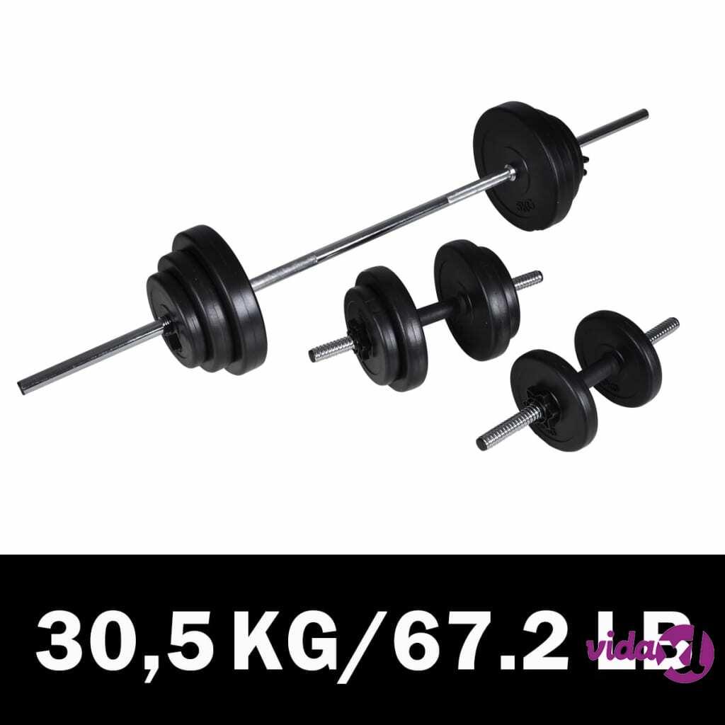 Image of vidaXL Painonnostotanko ja Käsipaino Sarja 30,5 kg