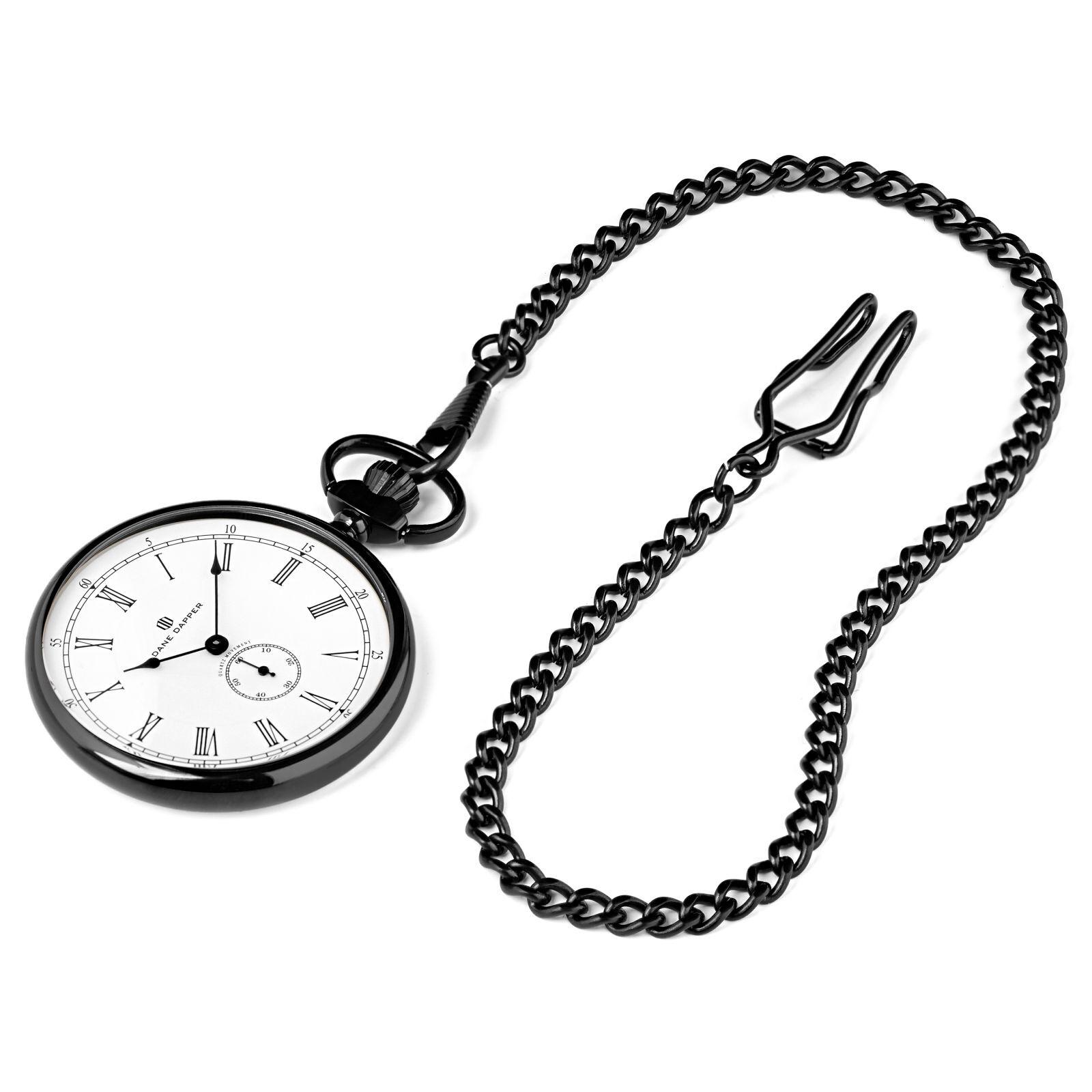 Dane Dapper Musta & valkoinen Time Keeper -taskukello