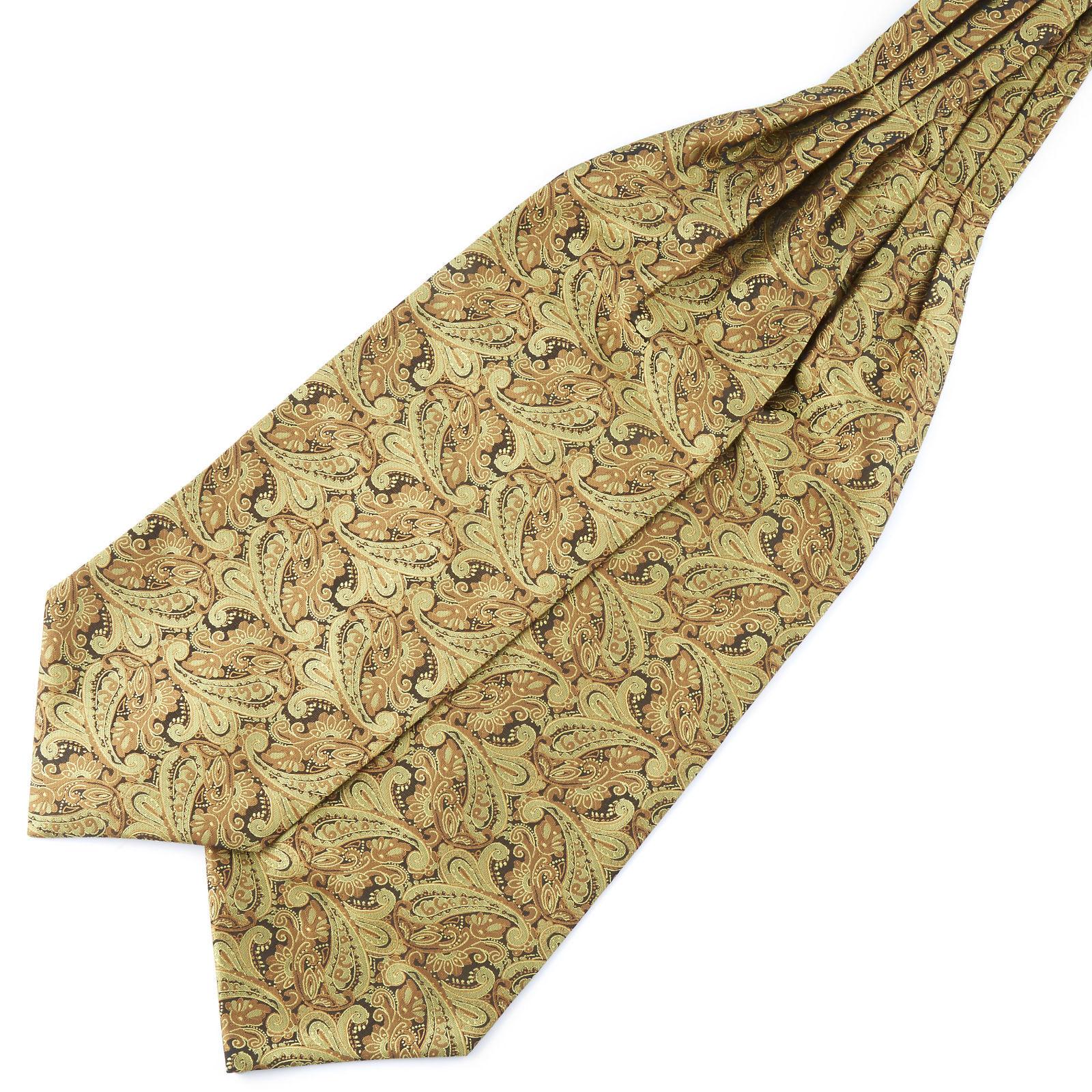 Tailor Toki Kullanvärinen kasmirkuvioinen polyesteri ascot-solmio