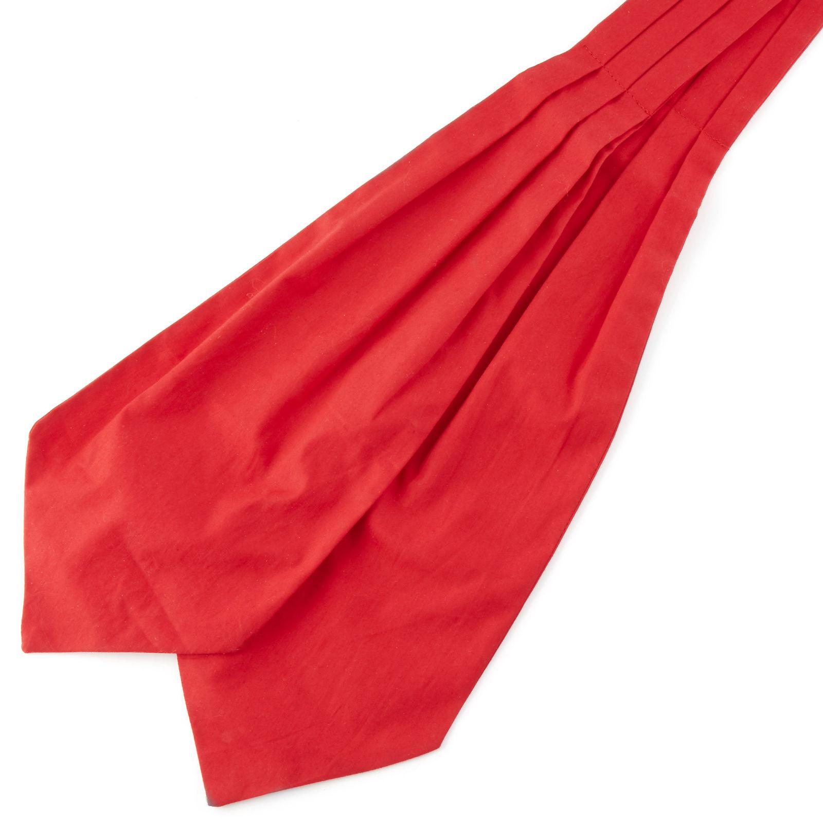 Tailor Toki Yksivärinen punainen puuvilla ascot-solmio