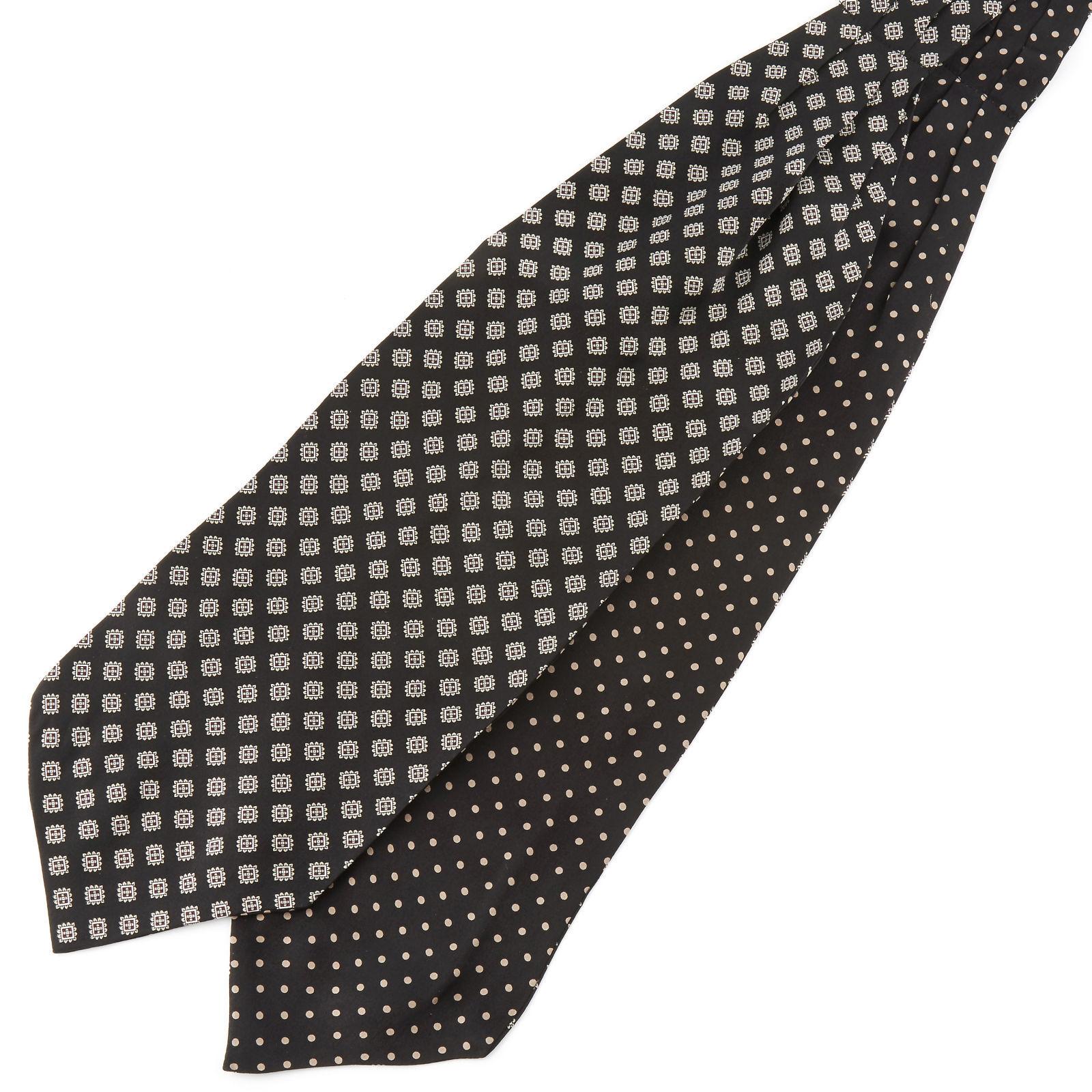 Tailor Toki Geometrinen Polka Dots silkki ascot-solmio