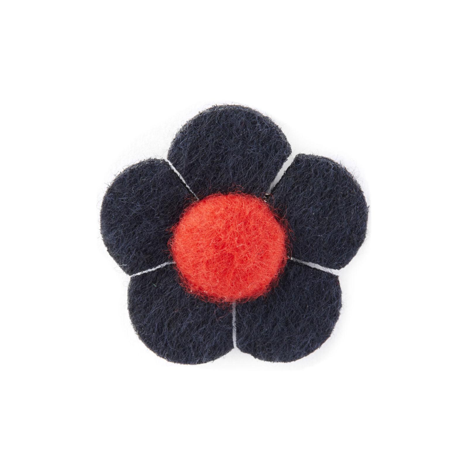 Warren Asher Laivastonsininen ja punainen kukka -rintaneula