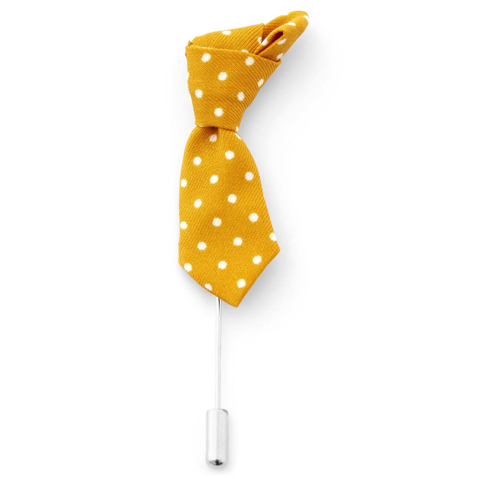 Warren Asher Keltainen Polka Dots solmio -rintaneula