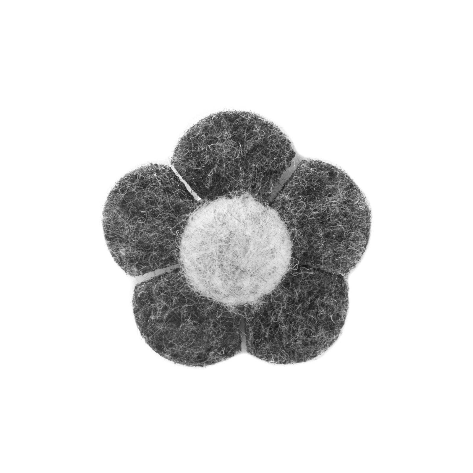 Warren Asher Kaksi sävyinen harmaa kukka -rintaneula