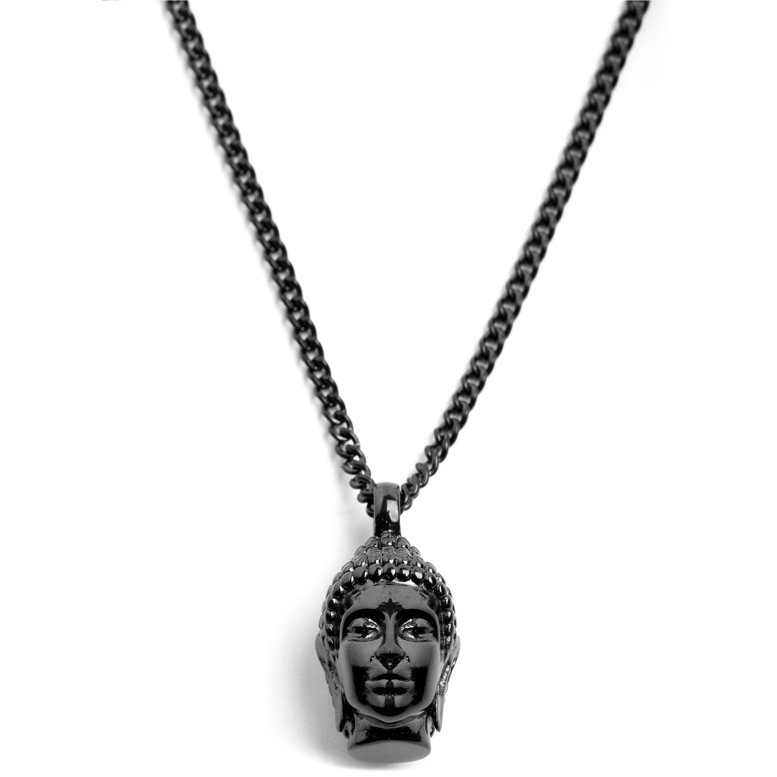 Lucleon Musta Buddha teräskaulakoru