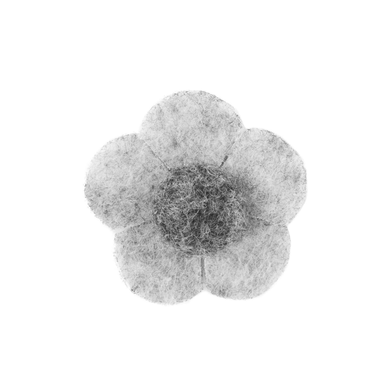 Warren Asher Vaalean ja tumman harmaa kukka -rintaneula