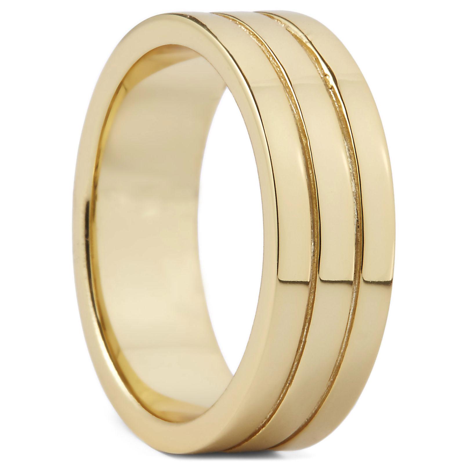 Northern Jewelry Kullattu Lionel-sormus, 925-hopeaa
