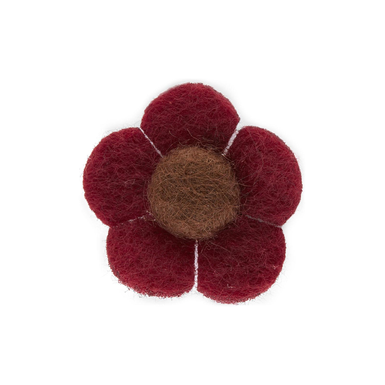 Warren Asher Punainen ja ruskea kukka -rintaneula