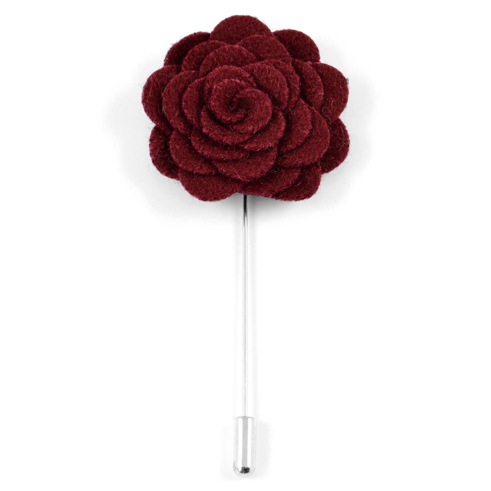 Warren Asher Viininpunainen Rose Rintaneula
