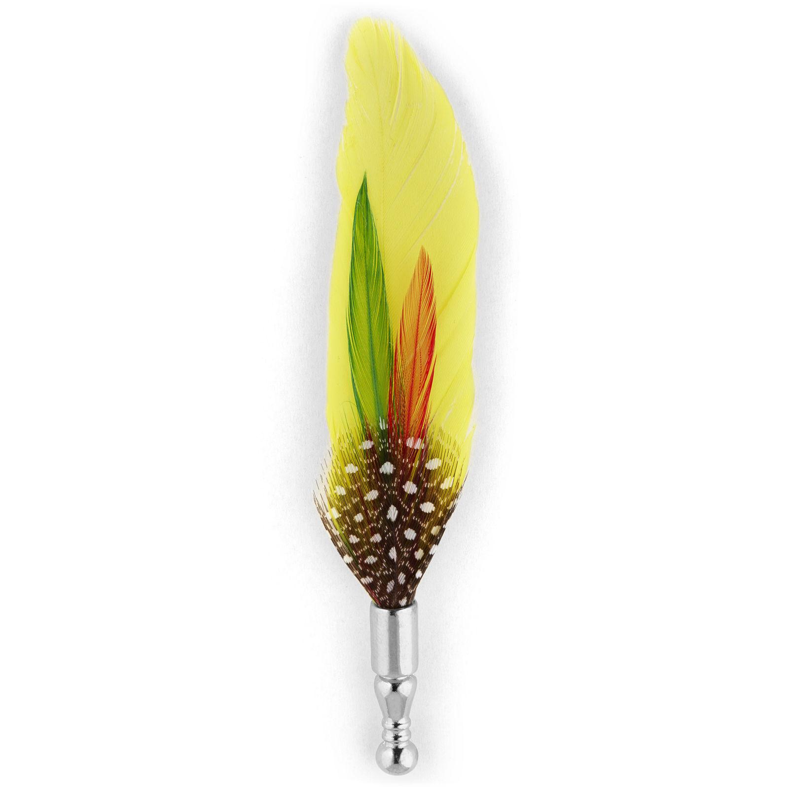 Warren Asher Keltainen höyhen -rintaneula